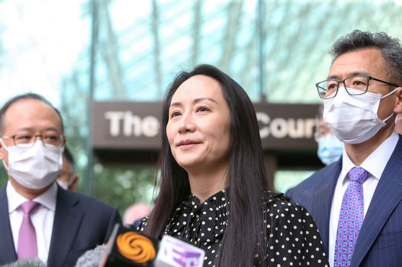 FILE PHOTO: Huawei Technologies Chief Financial Officer Meng Wanzhou leaves her home in Vancouver
