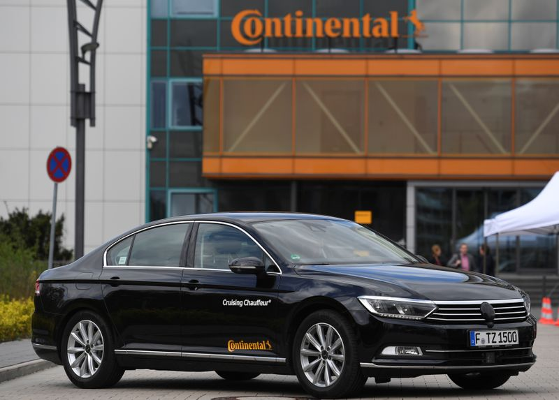 FILE PHOTO: A self-driving car of German company Continental is pictured in Hanover