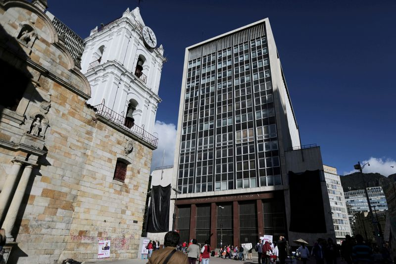 FILE PHOTO: General view of Colombia's central bank in Bogota