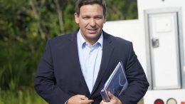 Florida Gov. Ron DeSantis arrives at a news conference, near the Shark Valley Visitor Center in Miami. (AP Photo/Wilfredo Lee, File)