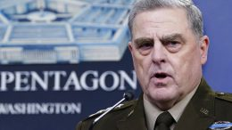 """FILE - In this Sept. 1, 2021, file photo Chairman of the Joint Chiefs of Staff Gen. Mark Milley speaks during a briefing with Secretary of Defense Lloyd Austin at the Pentagon in Washington. The top U.S. military officer said Friday that calls he made to his Chinese counterpart in the final stormy months of Donald Trump's presidency were """"perfectly within the duties and responsibilities"""" of his job. (AP Photo/Susan Walsh, File)"""