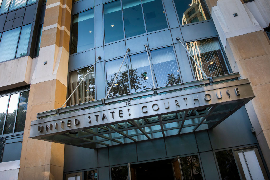 OAKLAND, CA - MAY 20: A general wide angle exterior day time view of the United States District Court during a court hearing between Apple and Epic games, on May 20, 2021 in Oakland, California. Epic Games, the maker of popular video game Fortnite, is accusing Apple of antitrust behavior through Apples business practice of restricting in-app payments outside of options offered through its own App Store. (Photo by Philip Pacheco/Getty Images)