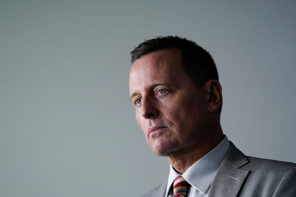 WASHINGTON, DC - SEPTEMBER 04: Advisor to the President on Serbia-Kosovo Richard Grenell attends a press briefing at the White House on September 4, 2020 in Washington, DC. The administration officials discussed a U.S. led agreement between Serbia and Kosovo that attempts to normalize economic relations between the two countries. (Photo by Drew Angerer/Getty Images)