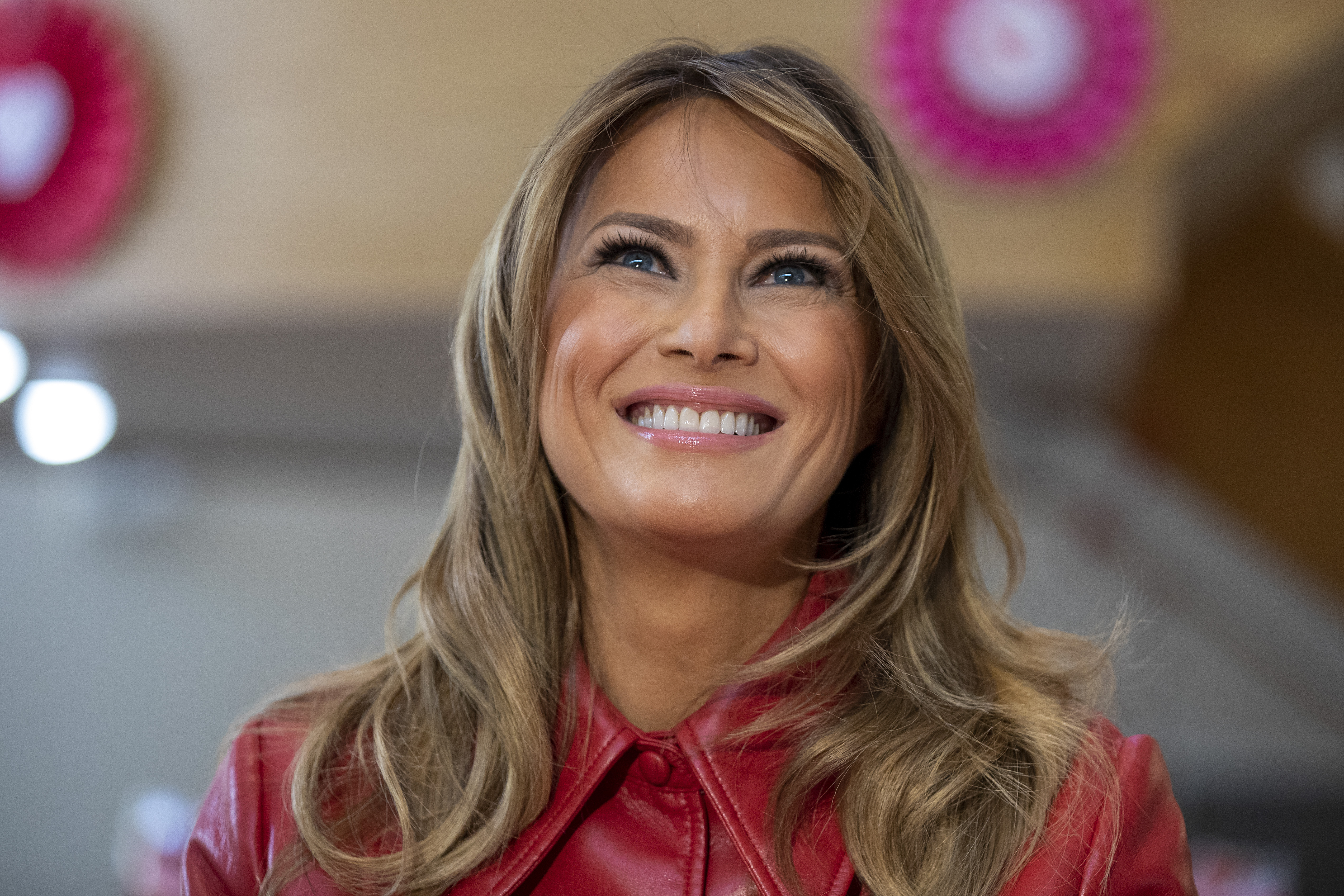 First Lady Melania Trump in Bethesda, Maryland. (Photo by Tasos Katopodis/Getty Images)