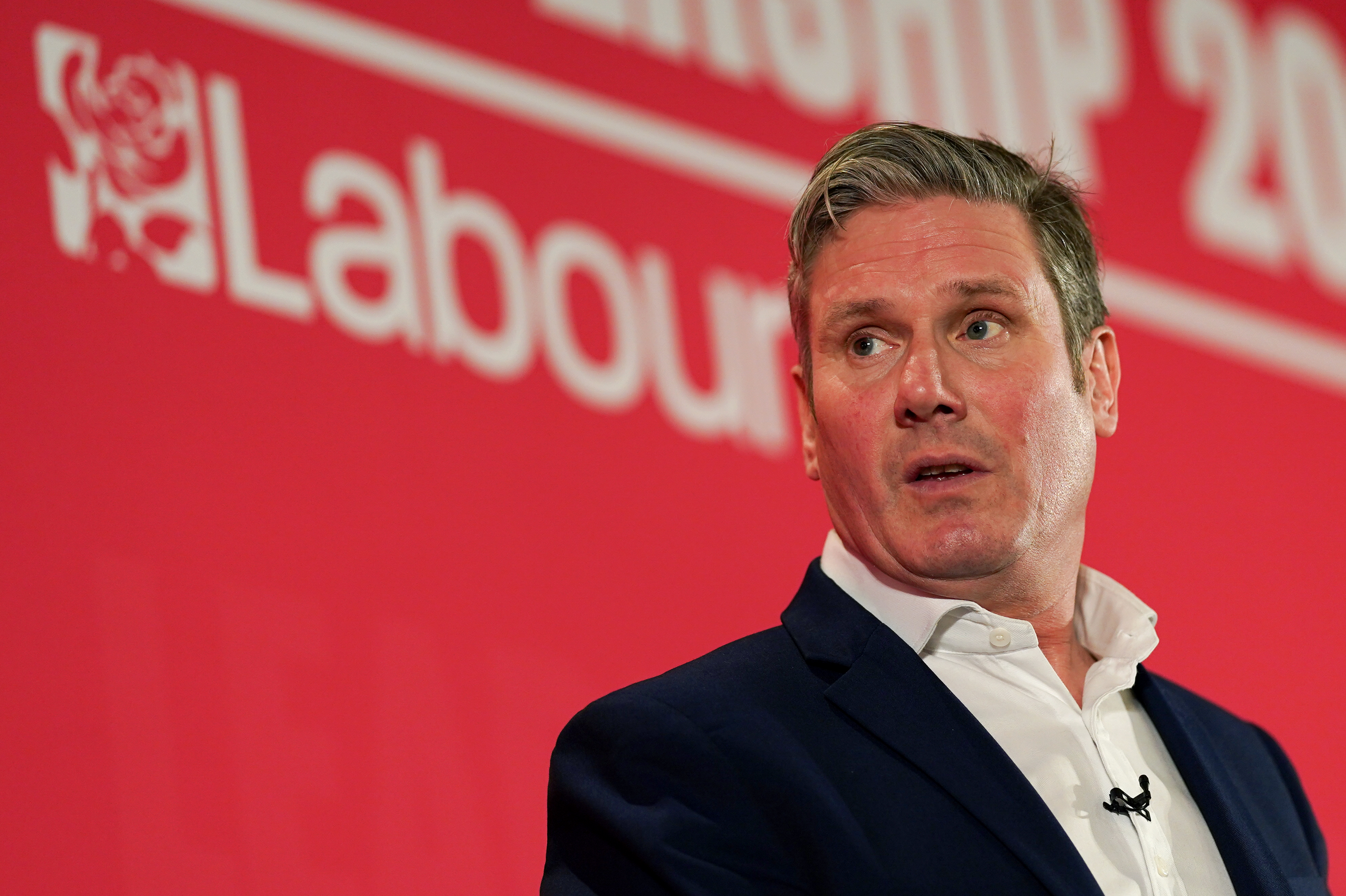 Keir Starmer addresses the audience during the Labour Party Leadership hustings at the Radisson Blu Hotel in Durham, England. (Photo by Ian Forsyth/Getty Images)