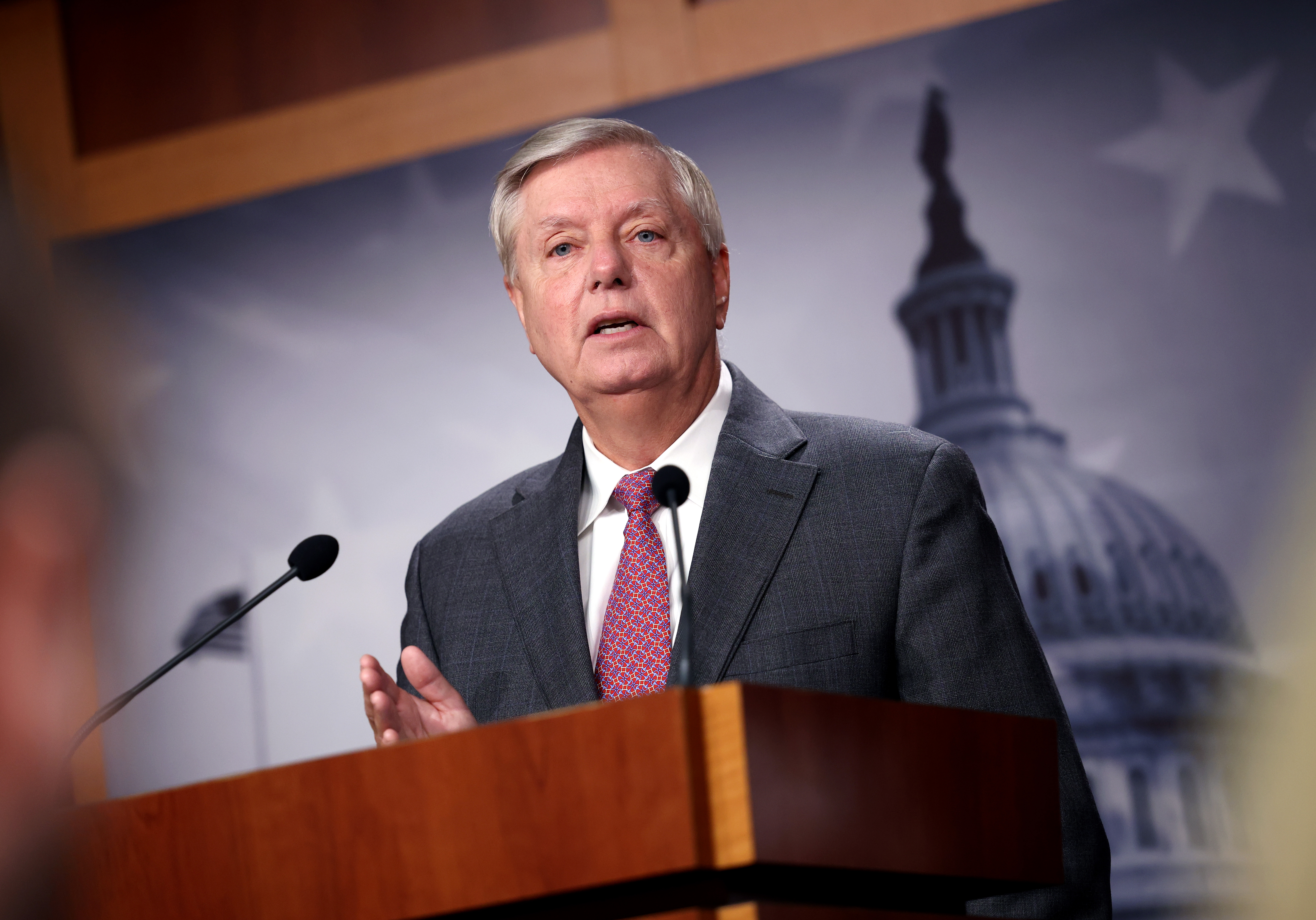 Sen. Lindsey Graham (R-S.C.) at the U.S. Capitol in Washington, DC. (Photo by Kevin Dietsch/Getty Images)