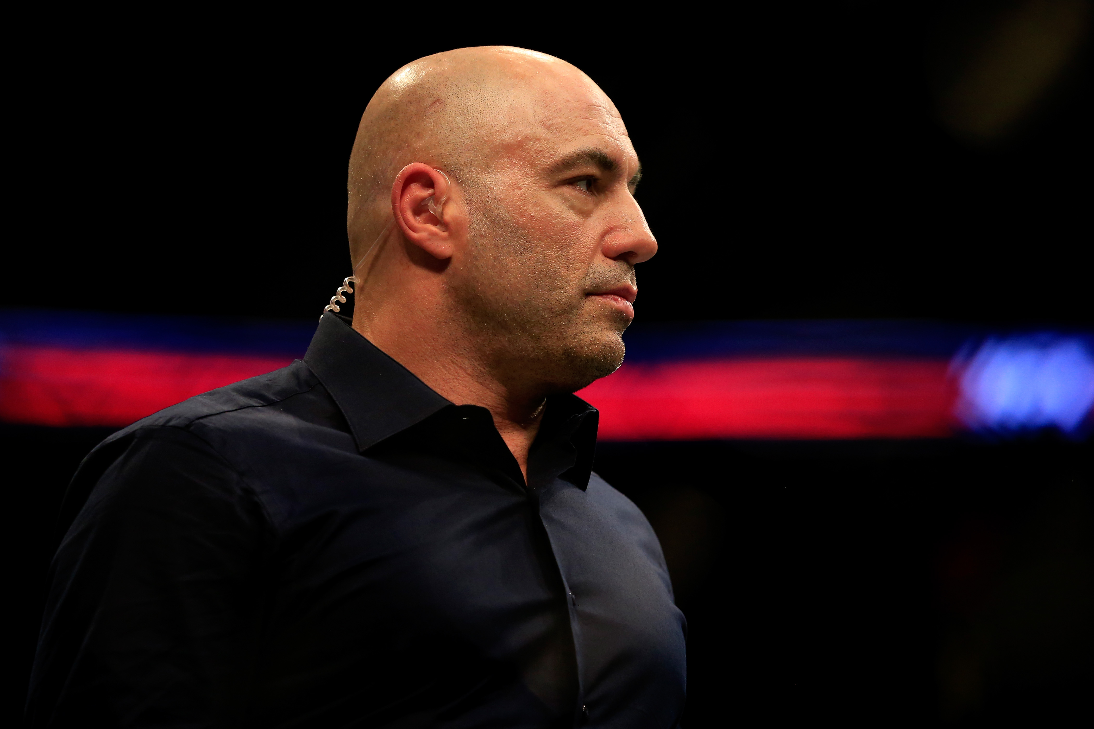Joe Rogan at the Prudential Center in Newark, New Jersey. (Photo by Alex Trautwig/Getty Images)