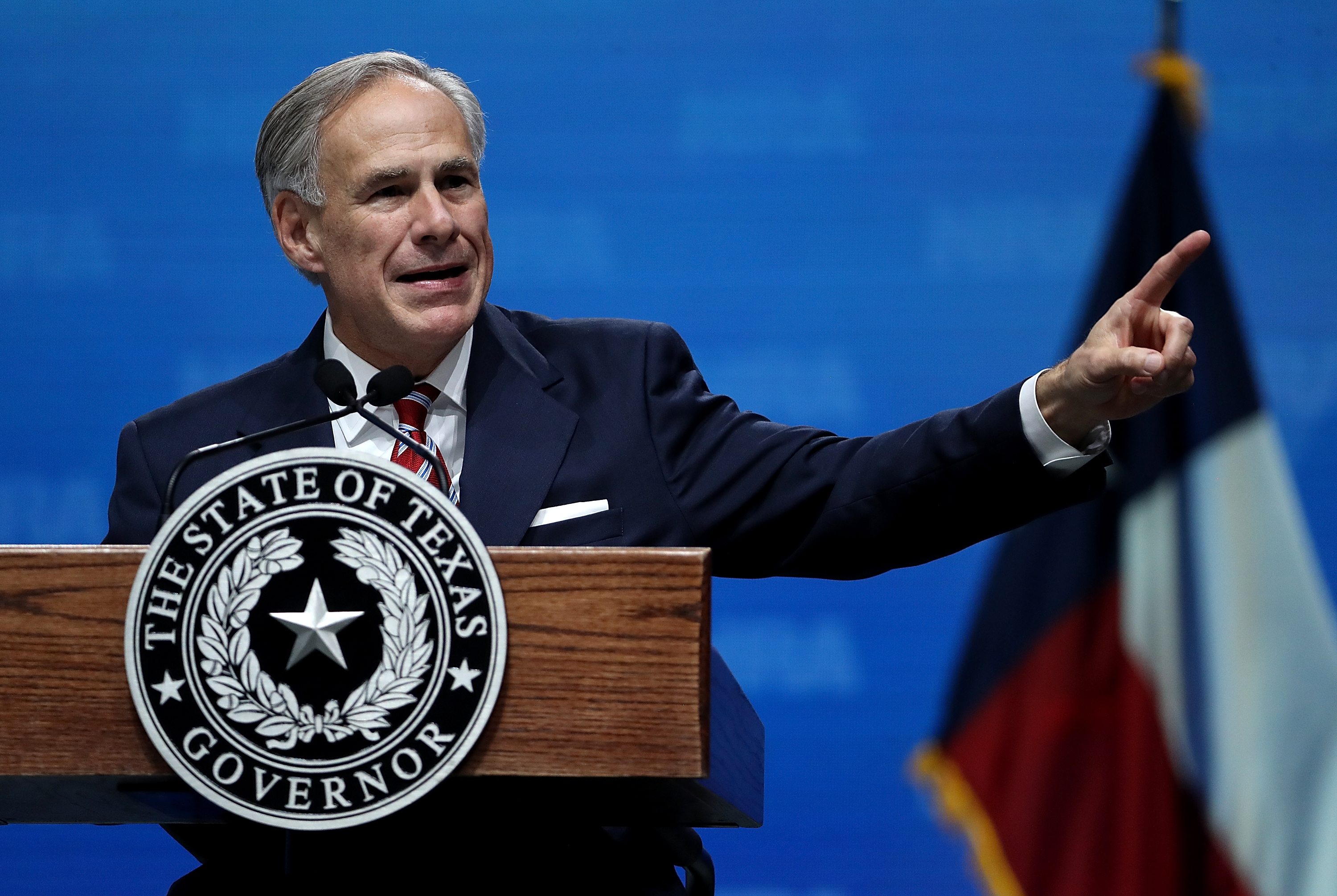 Texas Gov. Greg Abbott at the Kay Bailey Hutchison Convention Center on May 4, 2018 in Dallas, Texas. (Photo by Justin Sullivan/Getty Images)