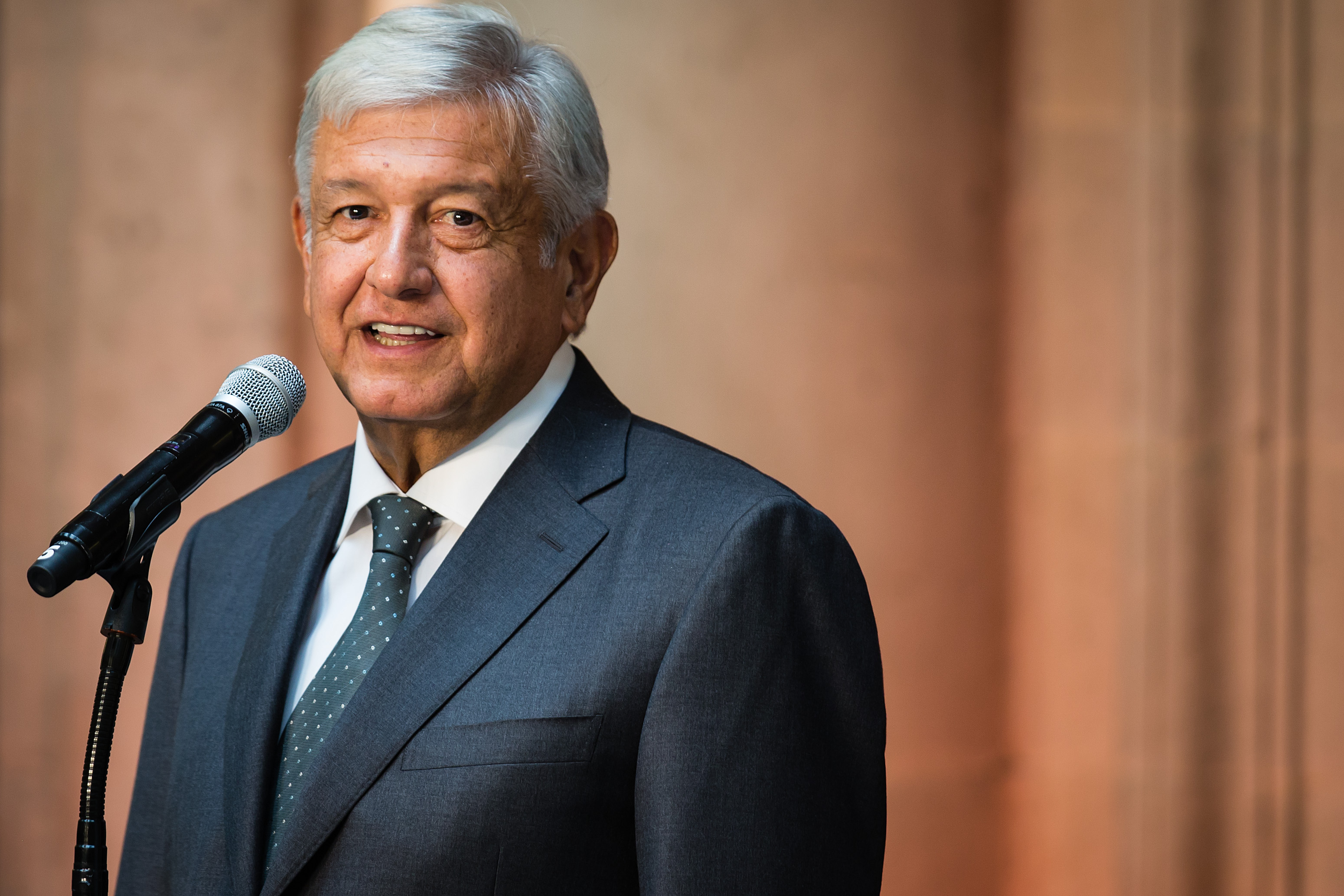 President of Mexico, Andres Manuel Lopez Obrador, in Mexico City, Mexico. (Photo by Manuel Velasquez/Getty Images)