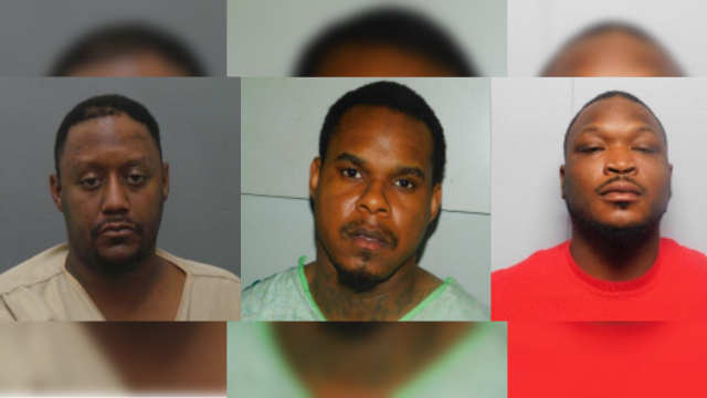 Deangelo M. Higgs, left, Cartez Beard, middle, and Lorenzo Bruce Jr., right. (Courtesy: Illinois State Police)