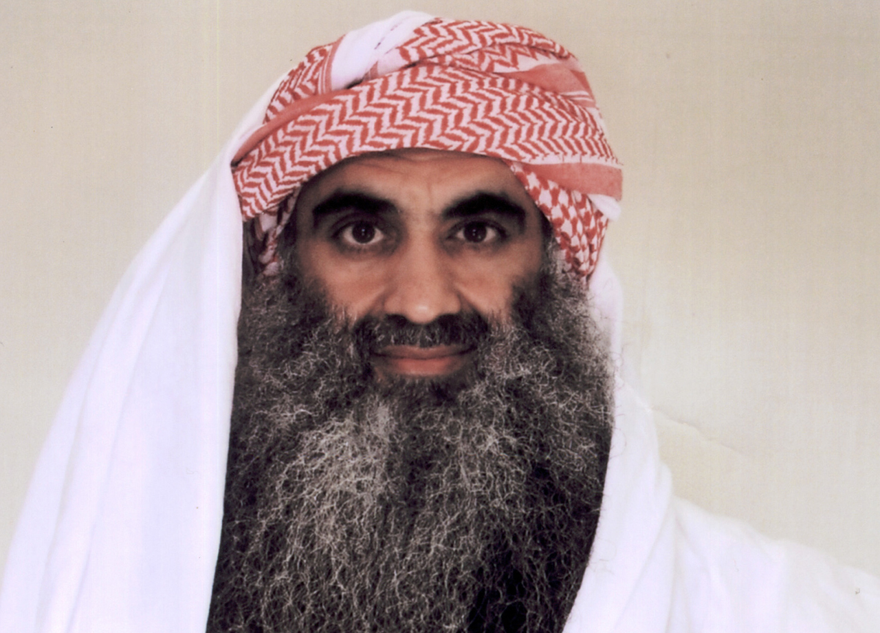 Khalid Sheikh Mohammed appears in Guantánamo Bay. (AP Photo)