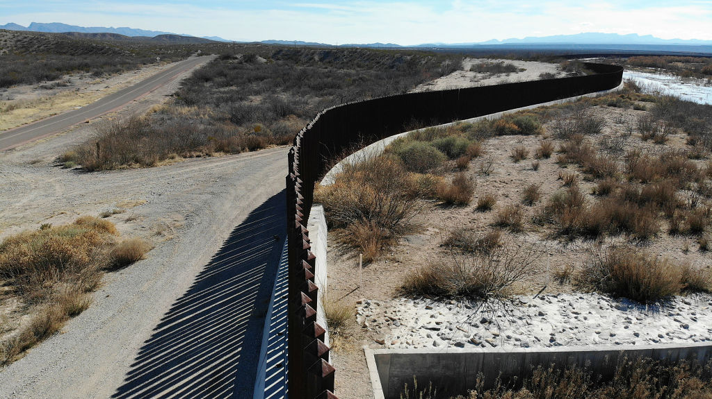 ESPERANZA, TEXAS - JANUARY 15: The border wall is seen on January 15, 2019 in Esperanza, Texas. The U.S. government is partially shut down as President Donald Trump is asking for $5.7 billion to build additional walls along the U.S.-Mexico border and the Democrats oppose the idea. (Photo by Joe Raedle/Getty Images)