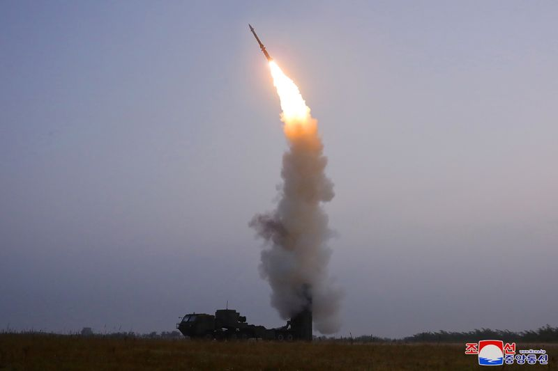 FILE PHOTO: A newly developed anti-aircraft missile is seen during a test conducted by the Academy of Defence Science