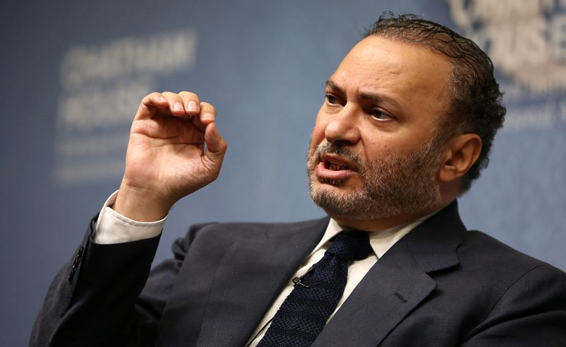 FILE PHOTO: Minister of State for Foreign Affairs for the United Arab Emirates, Anwar Gargash, speaks at an event at Chatham House in London