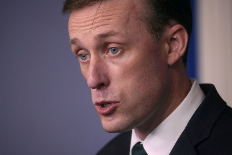 FILE PHOTO: U.S. national security adviser Jake Sullivan holds a news briefing about the situation in Afghanistan