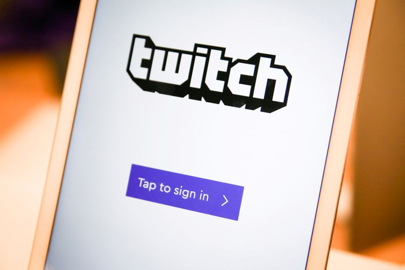 FILE PHOTO: A twitch sign-in screen is seen at the offices of Twitch Interactive Inc, a social video platform and gaming community owned by Amazon, in San Francisco, California