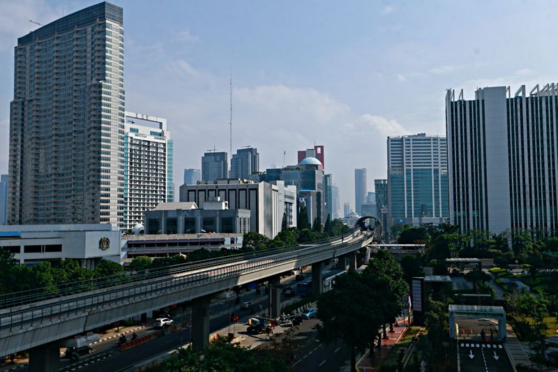 A general view of the city skyline of Indonesian capital Jakarta