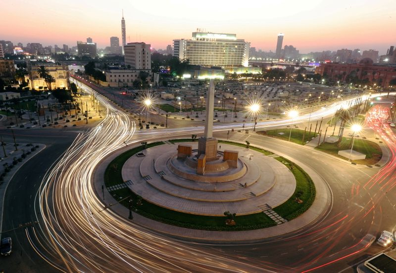 FILE PHOTO: Tahrir Square, after its renovation, following the outbreak of the coronavirus disease (COVID-19), in Cairo