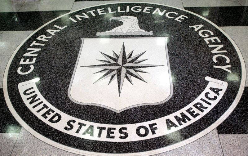FILE PHOTO: The logo of the U.S. Central Intelligence Agency is shown in the lobby of the CIA headquarters in La..