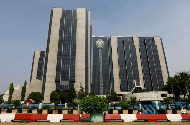 FILE PHOTO: A view shows Nigeria's Central Bank headquarters in Abuja