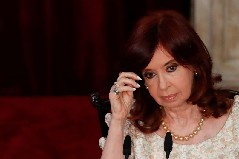 FILE PHOTO: Argentina's President Fernandez addresses 139th legislative term session at National Congress in Buenos Aires