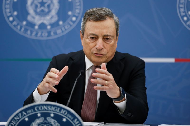 Prime Minister Draghi holds a news conference on Italy's new fiscal targets