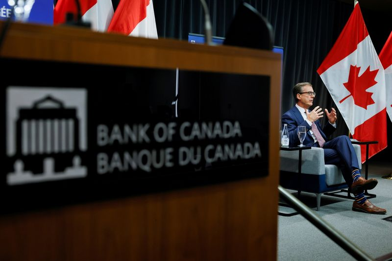 FILE PHOTO: Bank of Canada Governor Tiff Macklem takes part in an event at the Bank of Canada in Ottawa