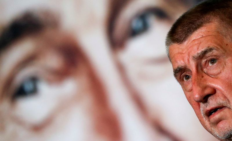 FILE PHOTO: Czech PM and leader of ANO party Andrej Babis attends a news conference in Prague