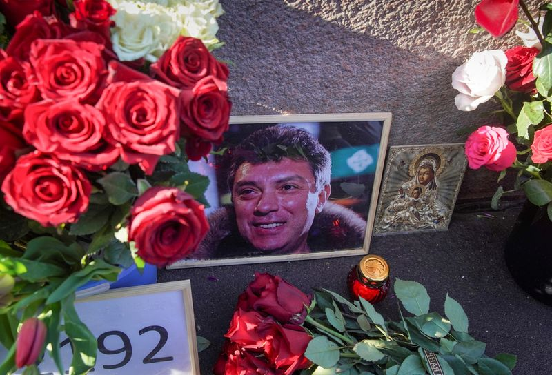 FILE PHOTO: The 6th anniversary of the assassination of Russian opposition politician Boris Nemtsov in Moscow