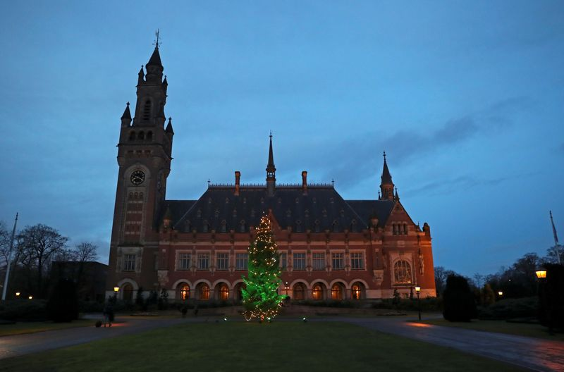 FILE PHOTO: General view of the International Court of Justice (ICJ) in The Hague