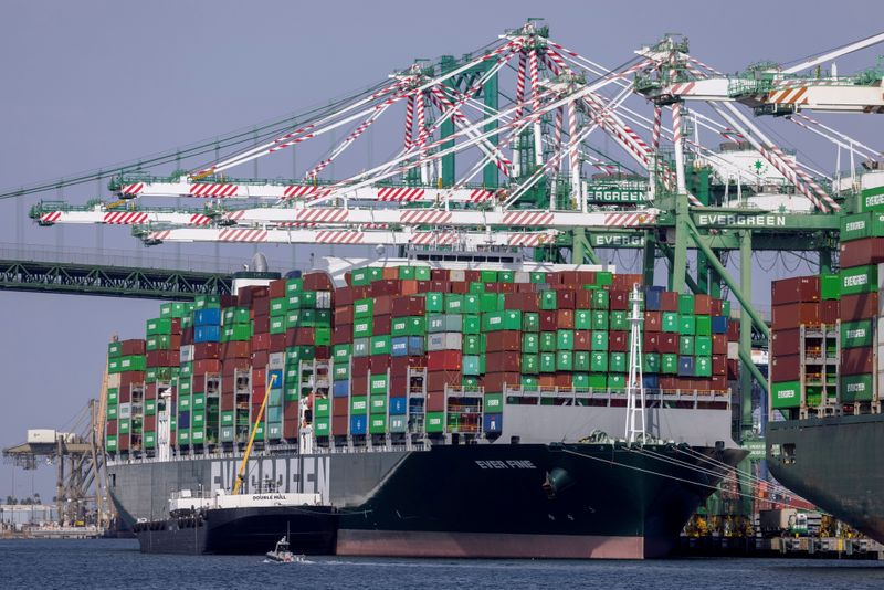 FILE PHOTO: The congested Port of Los Angeles is shown in San Pedro, California