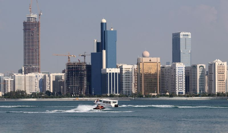 FILE PHOTO: A general view of the Abu Dhabi skyline