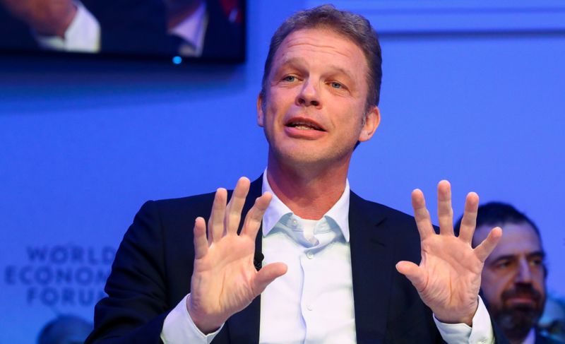FILE PHOTO: Christian Sewing, Chief Executive Officer of Deutsche Bank