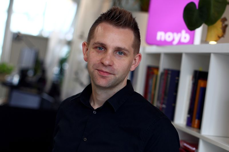 FILE PHOTO: Max Schrems poses after a Reuters interview in Vienna