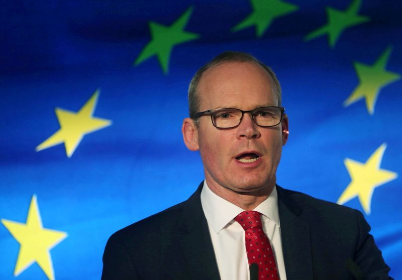 FILE PHOTO: Irish Minister for Foreign Affairs Coveney speaks at the launch of his party's manifesto for the Irish General Election in Dublin