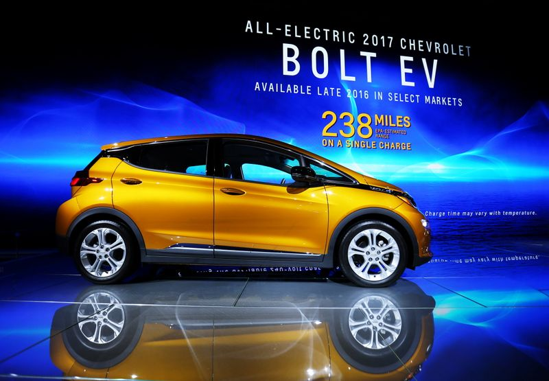 FILE PHOTO: The Chevrolet Bolt EV is pictured at the 2016 Los Angeles Auto Show in Los Angeles