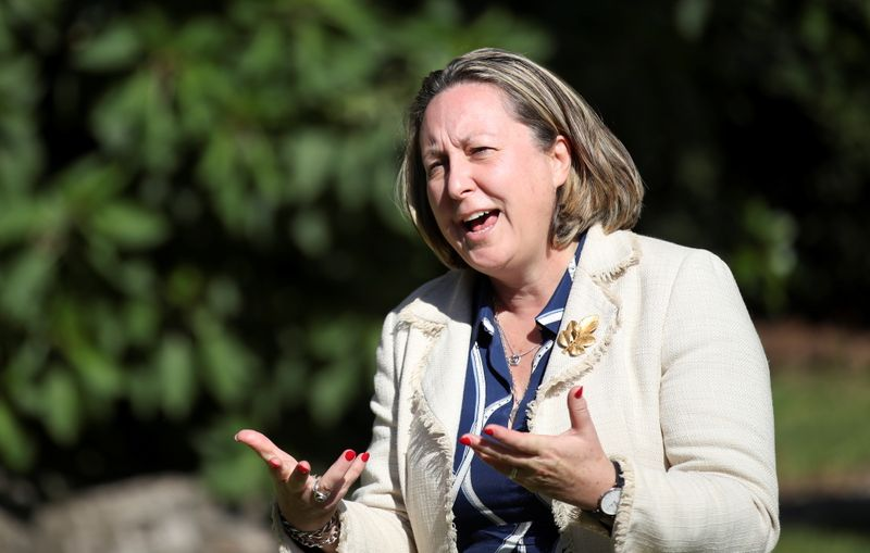 Britain's trade minister Anne-Marie Trevelyan speaks during an interview