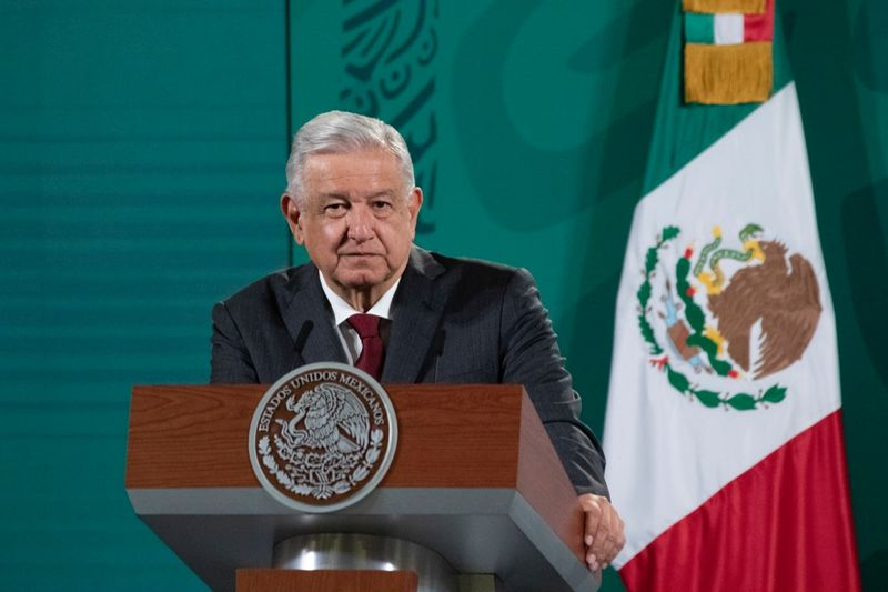 Mexican President Obrador holds news conference in Mexico City