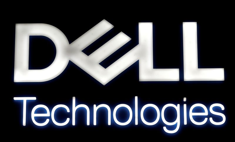 FILE PHOTO: Logo of Dell Technologies is seen at the Mobile World Congress in Barcelona