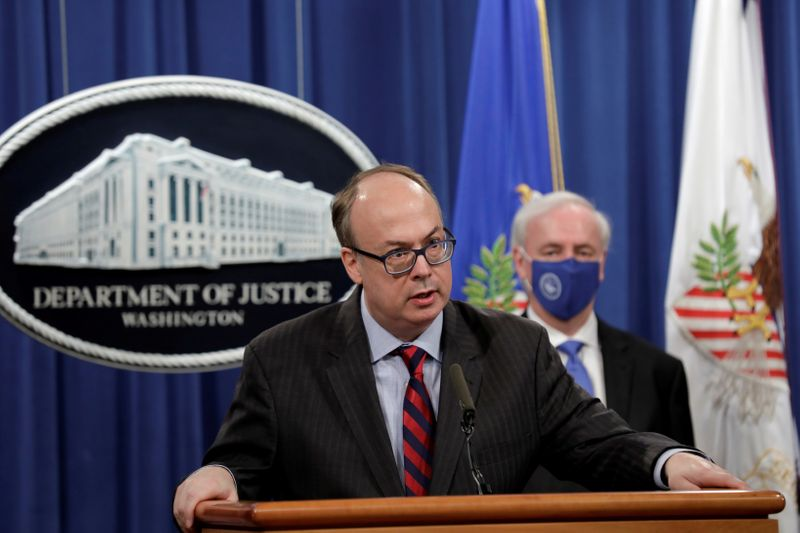 FILE PHOTO: Justice Department makes announcement on opioids settlement in Washington
