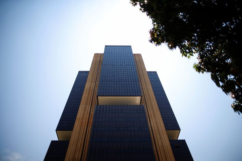 A view shows the Central Bank headquarters building in Brasilia