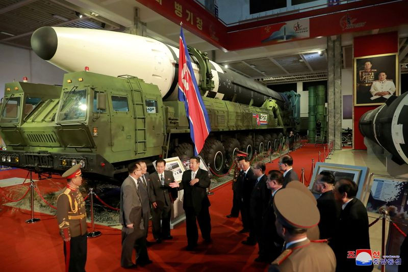 FILE PHOTO: Defence Development Exhibition, in Pyongyang