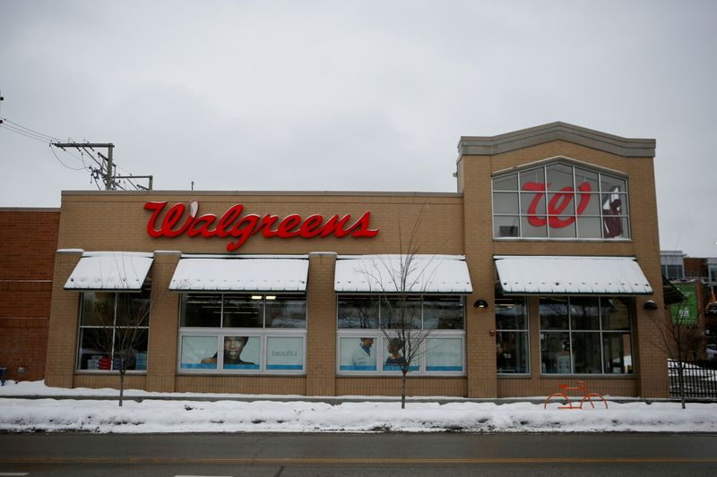 FILE PHOTO: A Walgreens store is seen in Chicago