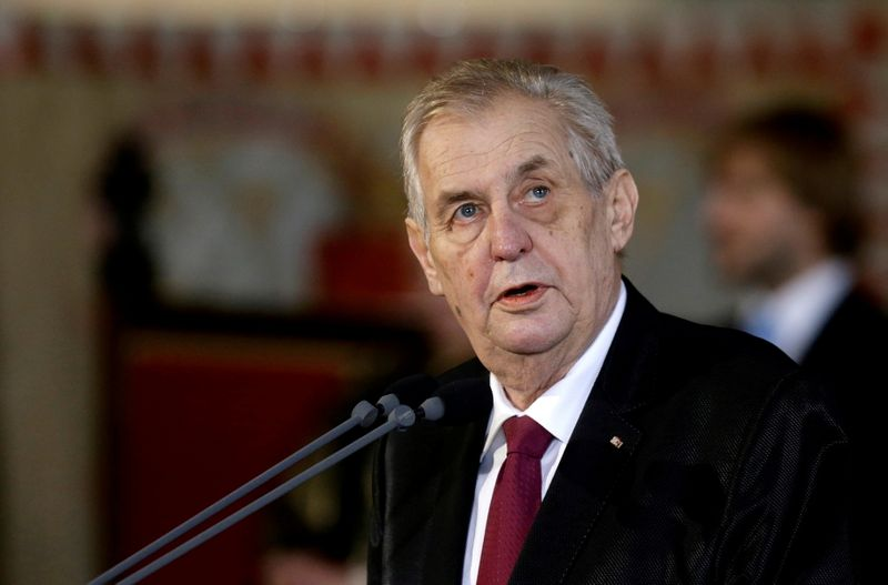 FILE PHOTO: Re-elected Czech President Milos Zeman attends the inauguration ceremony at Prague Castle in Prague