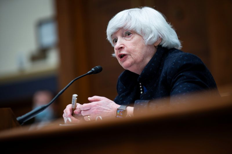 Treasury Secretary Janet Yellen attends the House Financial Services Committee hearing in Washington