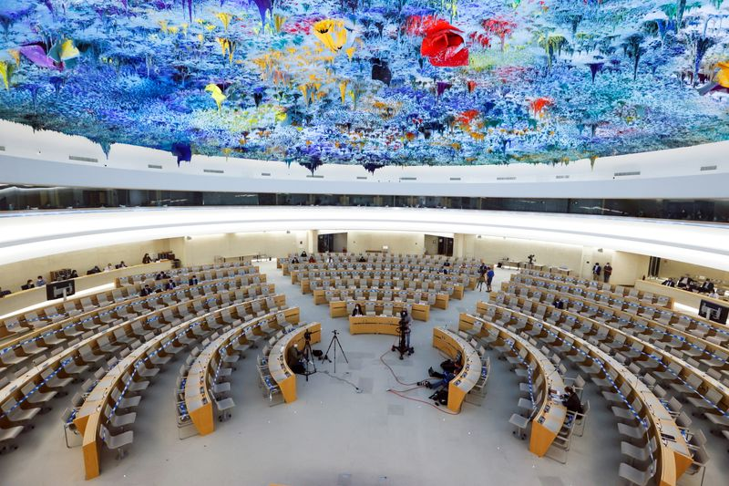 FILE PHOTO: Special session of the Human Rights Council in Geneva