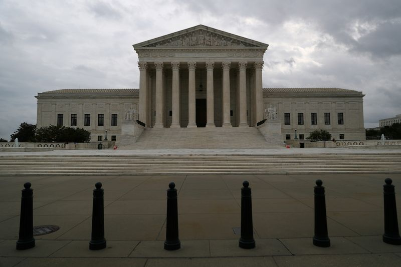 FILE PHOTO: The U.S. Supreme Court following an abortion ruling by the Texas legislature