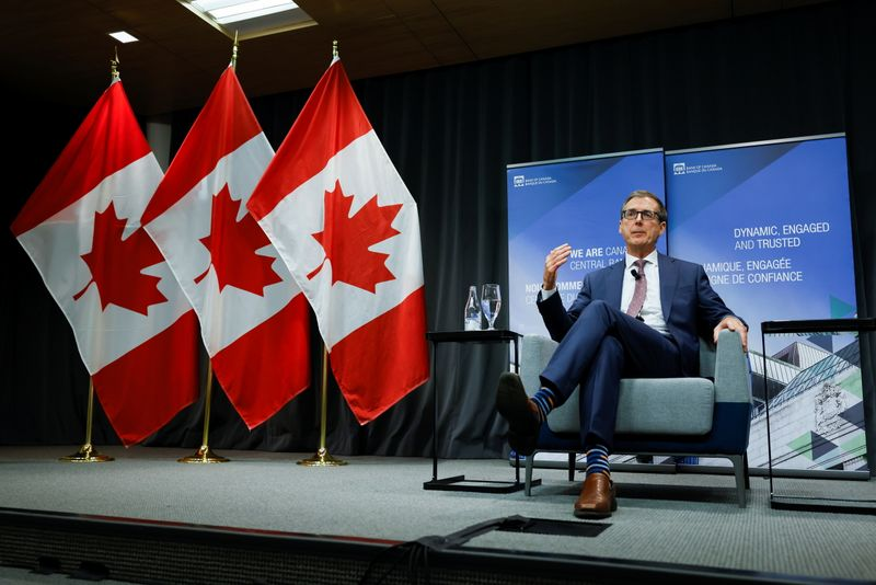 Bank of Canada Governor Tiff Macklem takes part in an event at the Bank of Canada in Ottawa