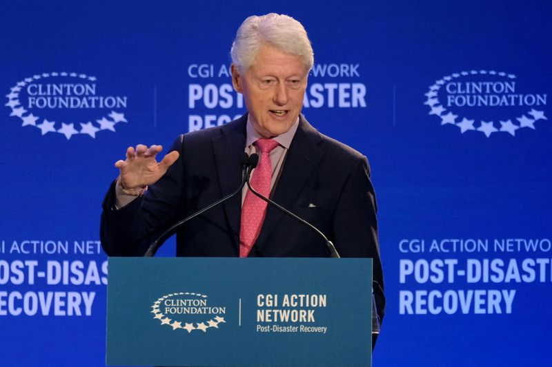 FILE PHOTO: Former U.S. President Bill Clinton attends a meeting of the Clinton Global Initiative (CGI) Action Network in San Juan