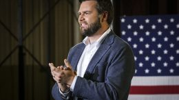 JD Vance addresses a rally July 1 in Middletown, Ohio, where he announced he is joining the crowded Republican race for the Senate seat being vacated by Republican Rob Portman.Jeffrey Dean / AP file